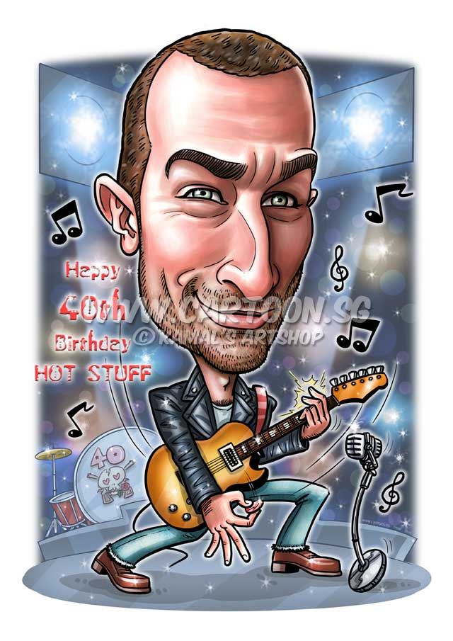 2016-06-27-Caricature-Digital-Birthday-rockstar-guitar-consert-gift