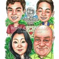 2016-06-28-Caricature-Singapore-family-palm-tree-raffles-hotel-merlion