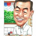2016-07-12-Caricature-Singapore-coffee-shop-roti-birthday-gift