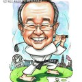 2017-02-07-Caricature-Singapore-golf-teakwando-uniform-kungfu-bangkok-thailand-martial-art-black-belt-farewell-gift
