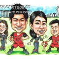 2017-02-16-Caricature-Singapore-group-colleagues-japan-SIA-airlines-uniform-basketball-jersey-sport-farewell-gift