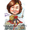 2017-06-10-Caricature-singapore-farewell-gift-boss-bank-wonder-woman-superhero-sexy-pretty-robbery