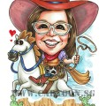 2017-06-14-Caricature-Cowboy-girl-forse-ride-rope-dessert-cool