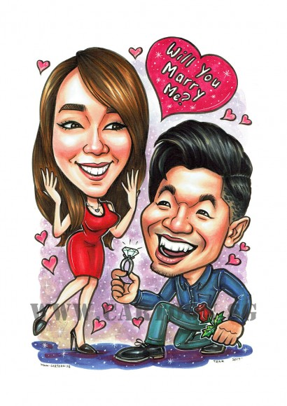 2017-06-14-Caricature-Singapore-marry-proposal-couple-diamond-ring-love-romance