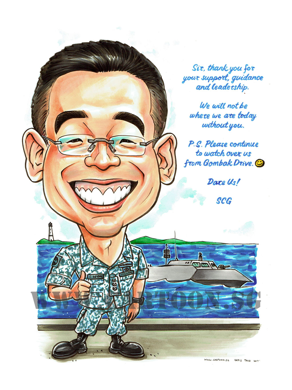 2017-06-14-Caricature-Singapore-navy-saf-army-ship-uniform-light-house.jpg