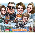 2017-06-20-Caricature-digital-singapore-aeroplane-airline-dog-family-farewell-gift-UK-london-bridge