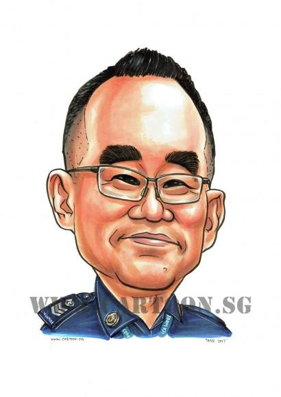 2017-07-05-Caricature-Singapore-ICA-police-uniform-mugshot