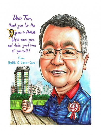 2017-07-05-Caricature-Singapore-no.1-dad-father-hdb-flat-farewell-gift-boss