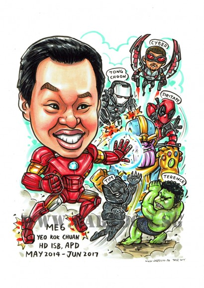 2017-07-07-Caricature-Singapore-superheroes-awesome-black-panther-hulk-marvel-fight-thanos-deadpool-warmachine-ironman