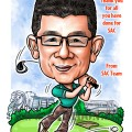 2017-07-12-Caricature-Singapore-digital-farewell-gift-golf-boss