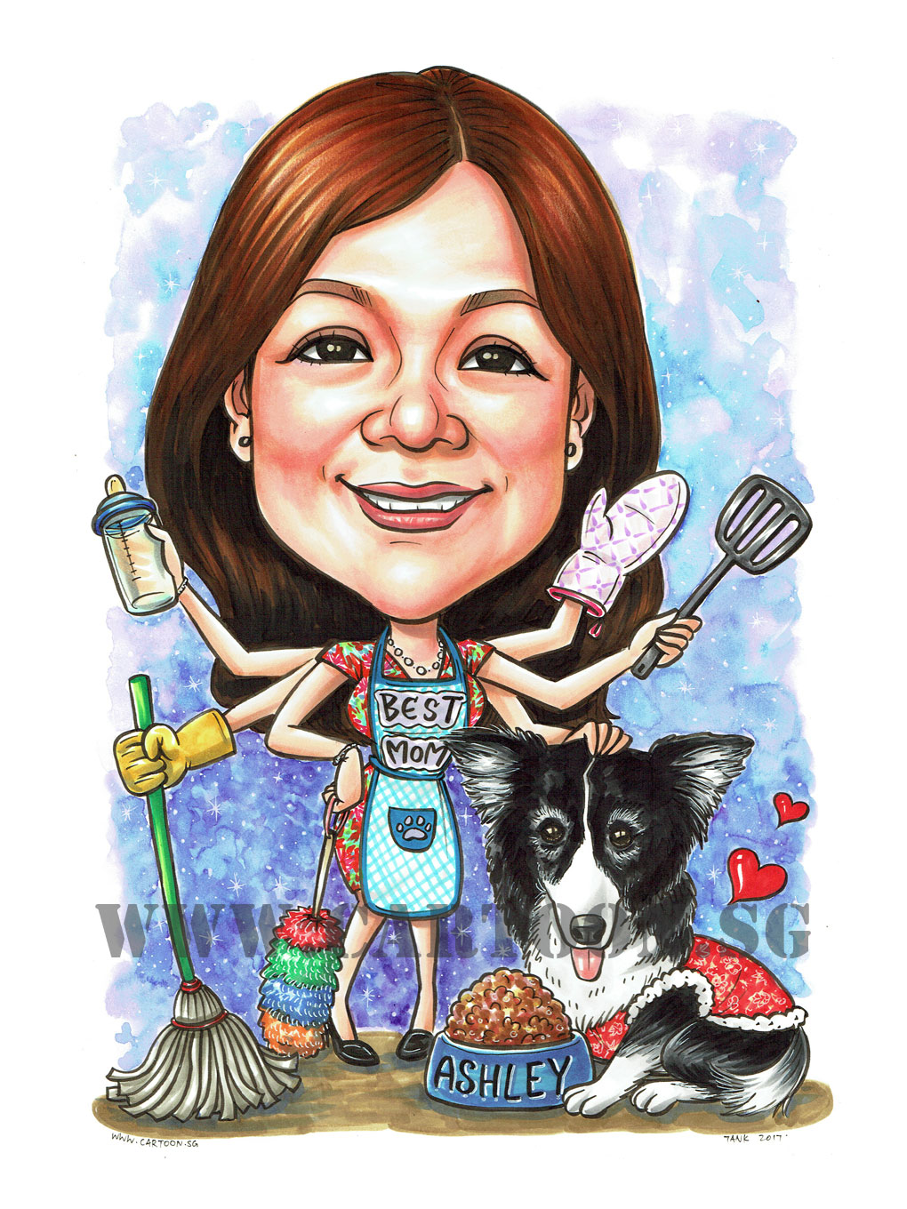 2017-07-13-Caricature-Singapore-best-mom-mother-dog-pet.jpg