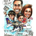 2017-07-21-Caricature-Singapore-family-UK-SQ-aeroplane-jurong-farewell-gift-chicken-rice