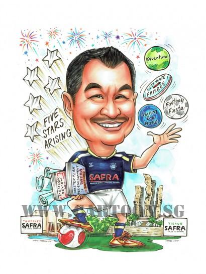 2017-07-21-Caricature-Singapore-safra-firework-balls-football