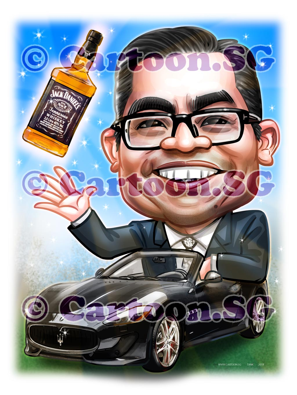 2018-01-26-Caricature-Singapore-digital-boss-gift-sport-car-whiskey-fun.jpg
