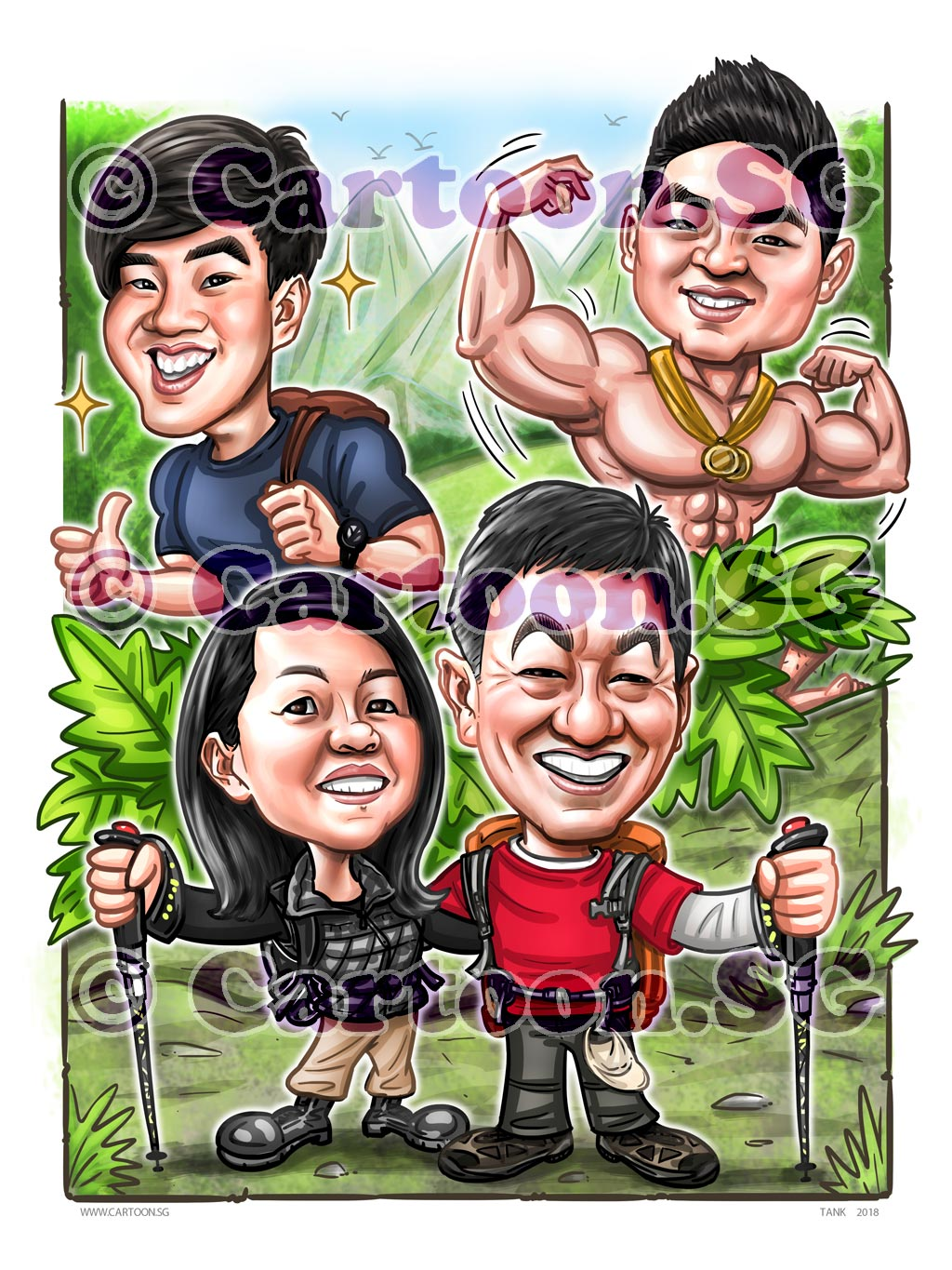 2018-02-08-Caricature-Singapore-digital-family-love-outdoorish-sporty-hiking-muscle-gift.jpg