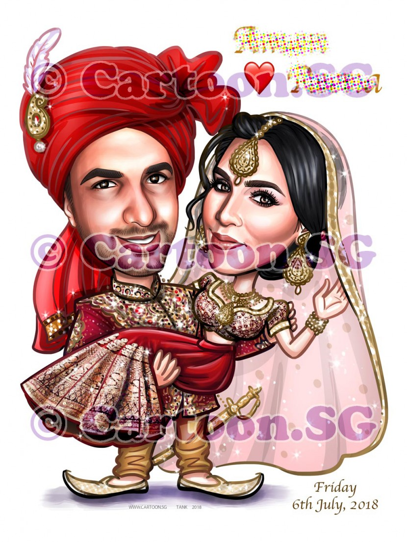 20180223-Caricature-Singapore-digital-couple-wedding-indian-love-revised