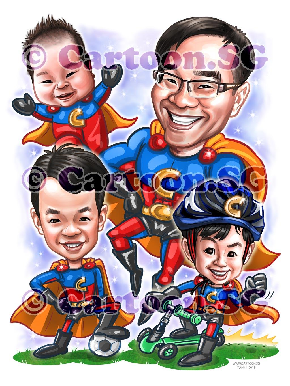 20180304-Caricature-Singapore-digital-birthday-baby-superhero-family.jpg