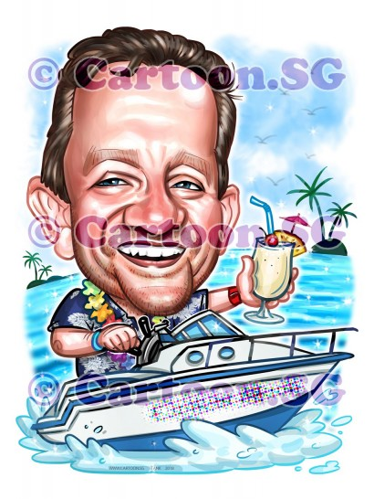 Ahhhhh! Pina Colada get-away on a speed boat.