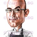 Mugshot caricature of chef