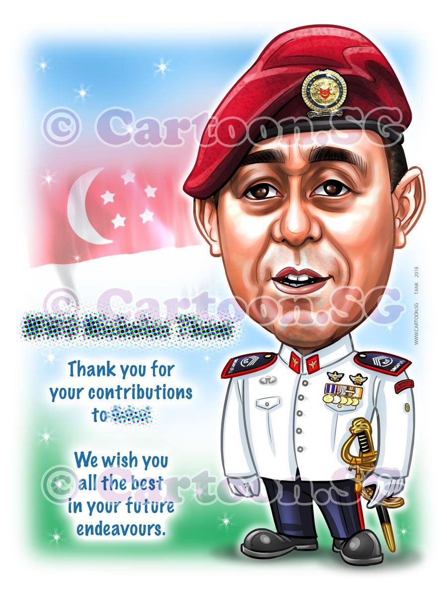 Farewell gift for officer
