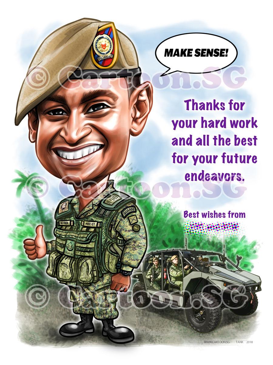 Farewell gift for an officer