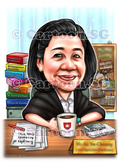 20190208-Caricature-Singapore-digital-MOE-retirement-gift-office-desk