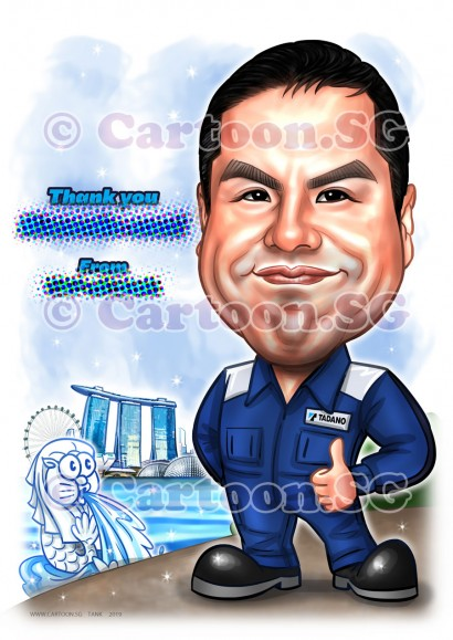 20190305-Caricature-Singapore-digital-Tadano-japanese-worker-overall-uniform