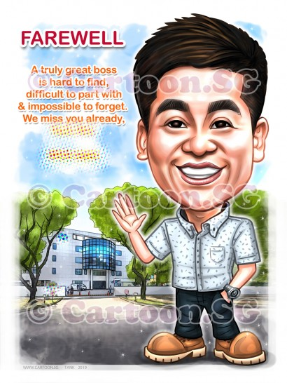 20190315-Caricature-Singapore-digital-farewell-PEC-LTD-boss
