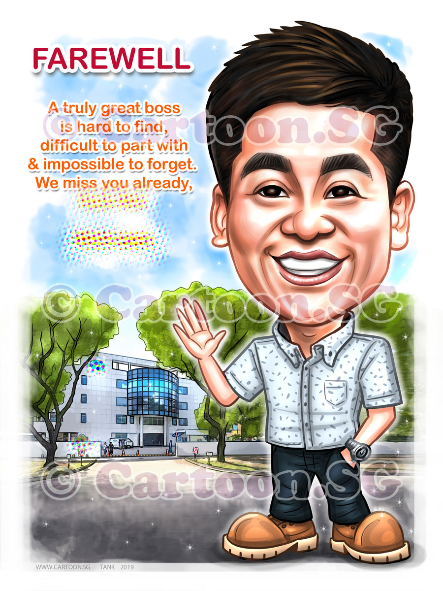 20190315-Caricature-Singapore-digital-farewell-PEC-LTD-boss