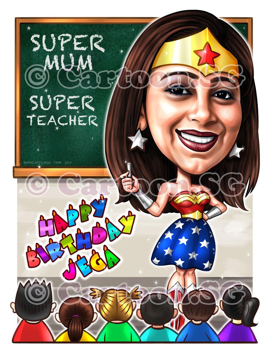 Birthday gift for super mum