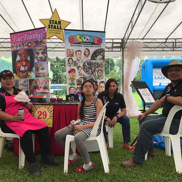Face-painting & Live Caricature event