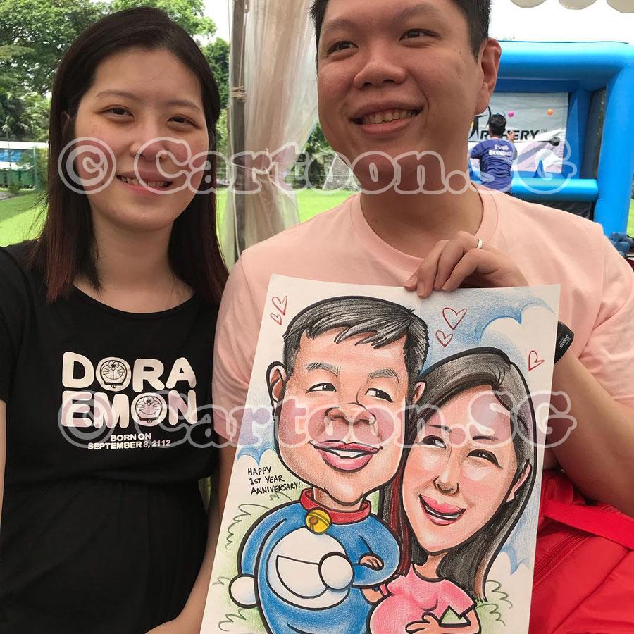 Happy Doraemon couple
