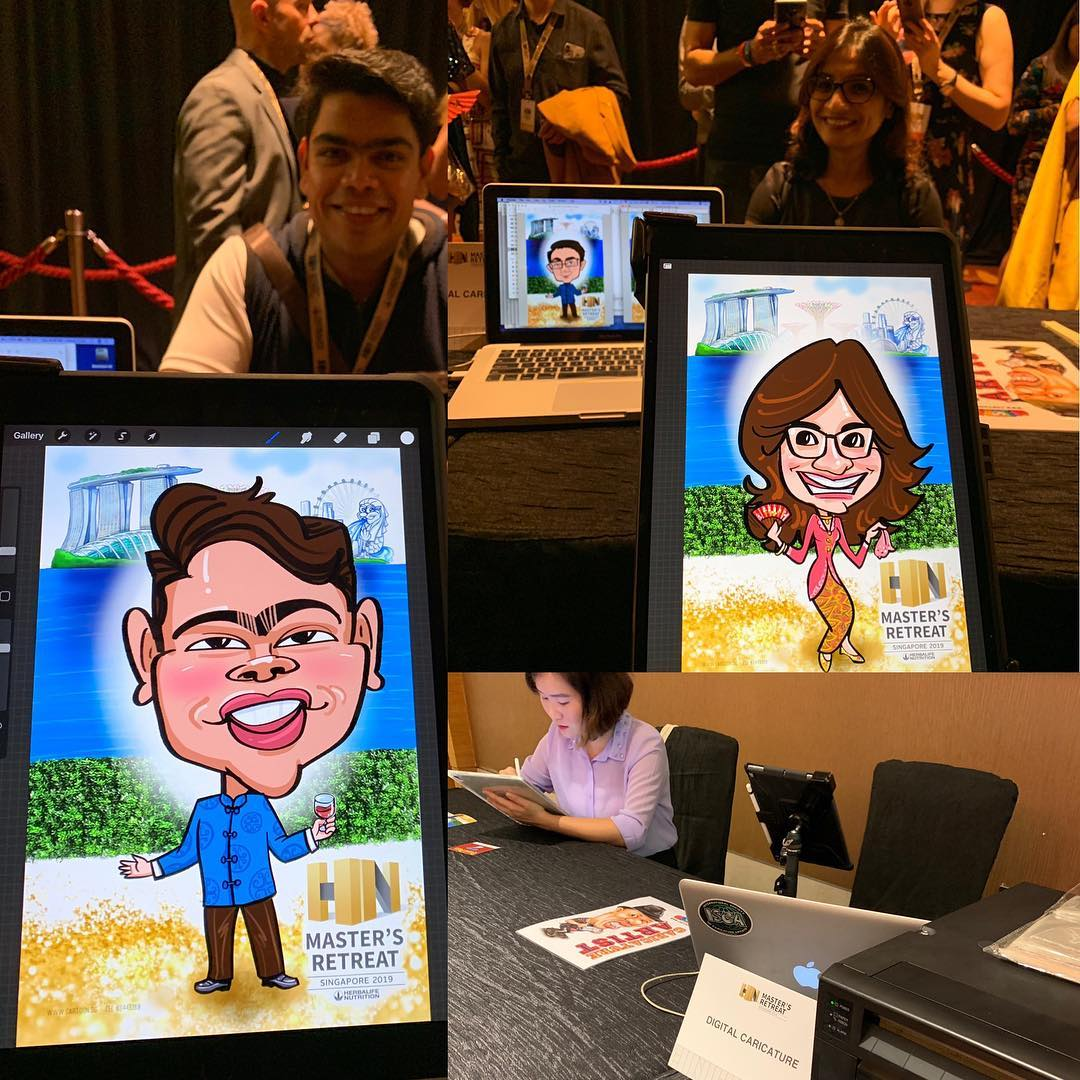 Live Digital Caricature Event