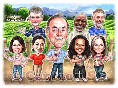 20190928-Caricature-Singapore-digital-group-vineyard