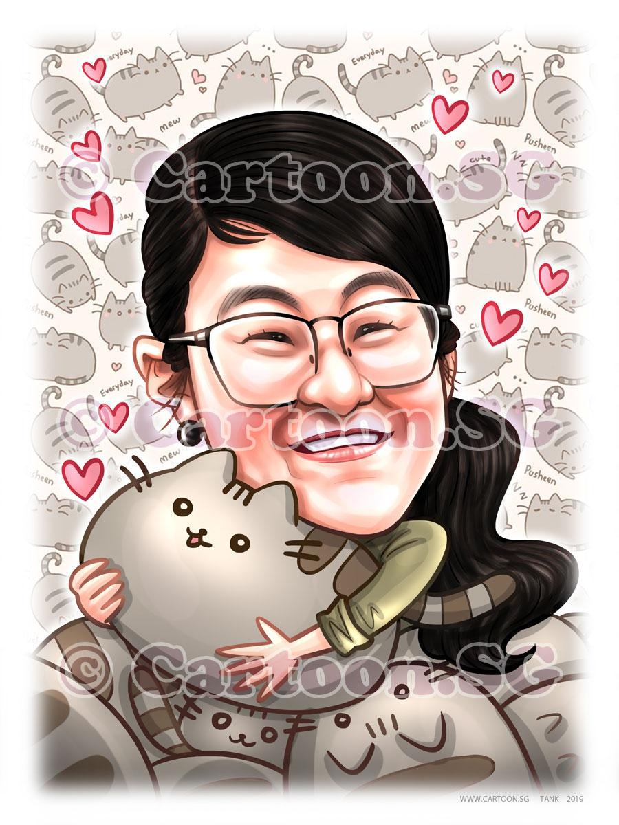 farewell gift  cartoonsg  singapore caricature artists