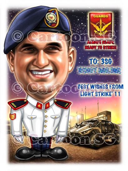 Caricature Singapore Gift