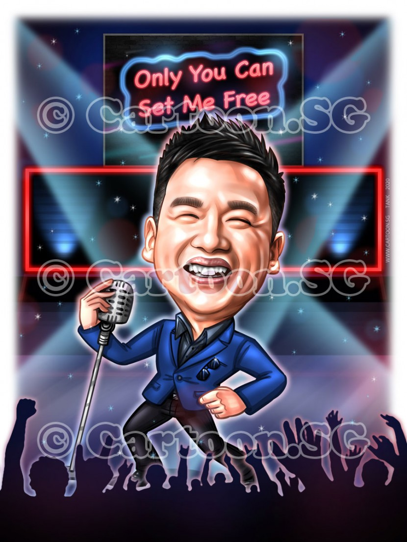 20200107-Caricature-Singapore-digital-concert-stage-microphone-singing-superstar