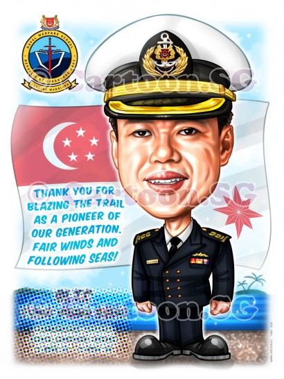 Fair winds and Following Seas, Aye Aye Sir! A farewell gift for Navy colonel