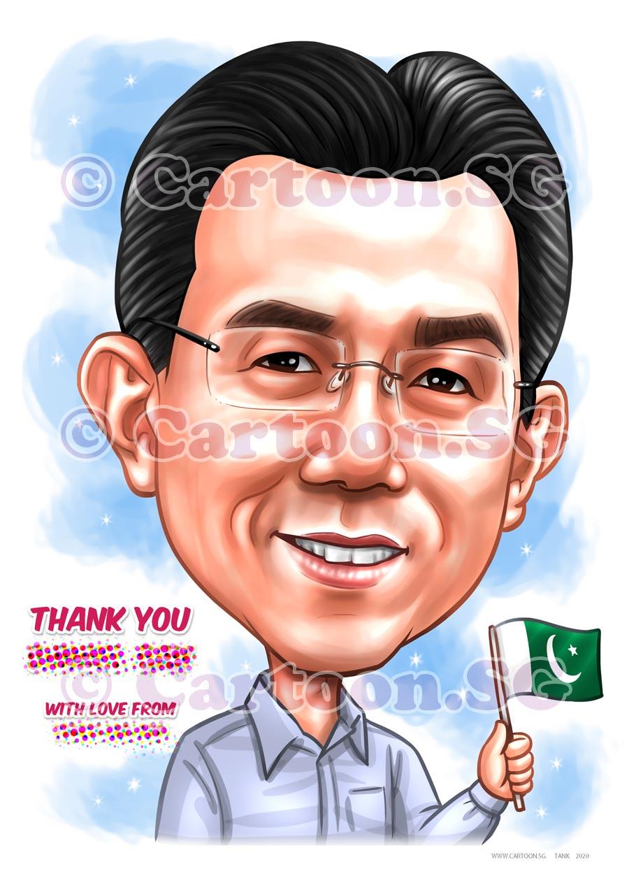 Mugshot caricature Pakistan
