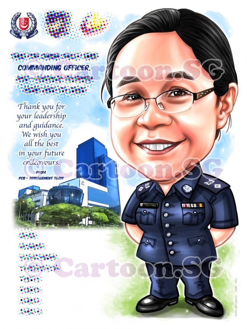 Farewell ladyboss  in uniform