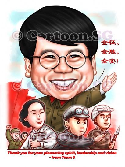 Boss Man caricature sketch cartoon