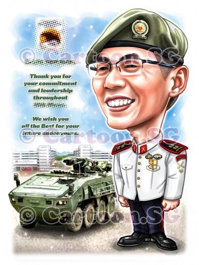 SAF tanker salute cartoon caricature apprieciation