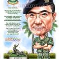 Army uniform caricature cartoon