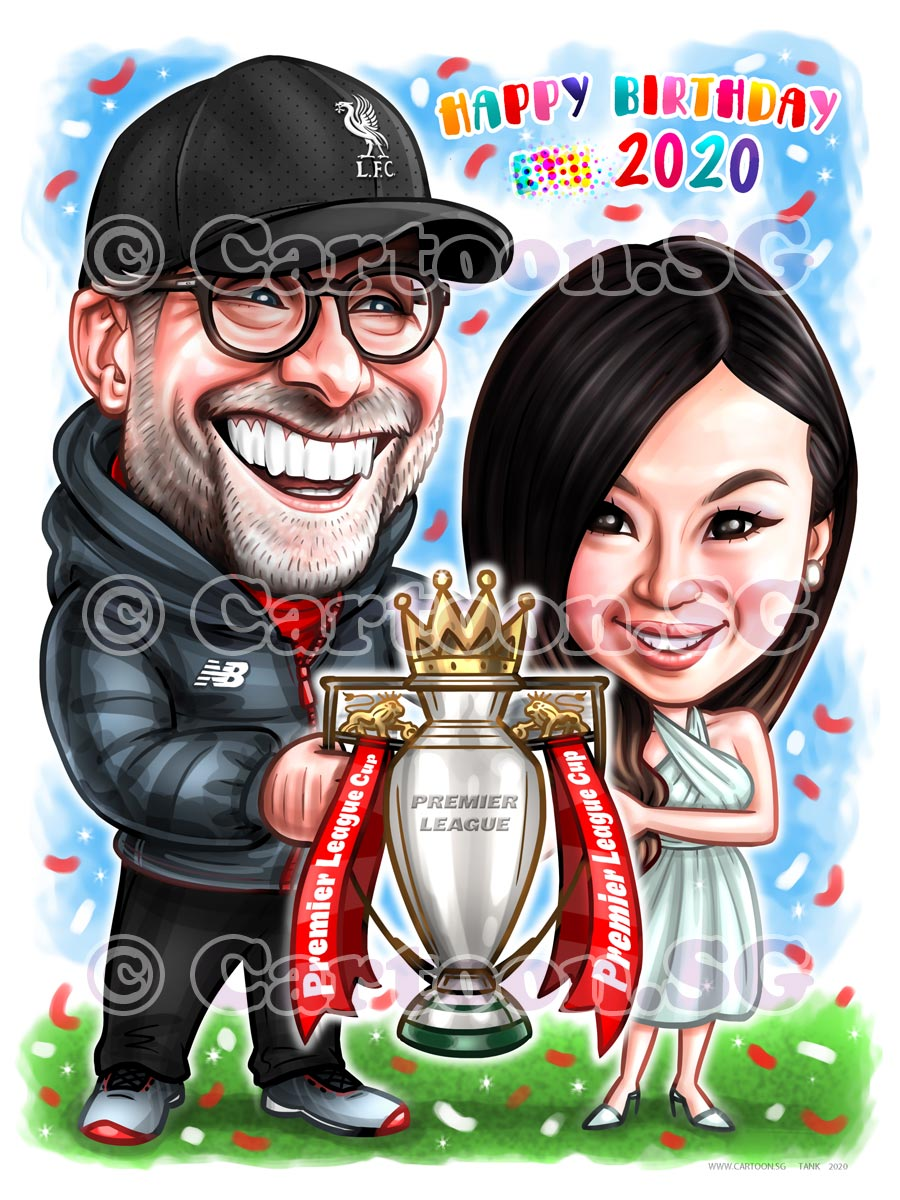 trophy couple goals premier league birthday present cap spectacle