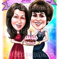 birthday cake girls ladies celebration memories caricature