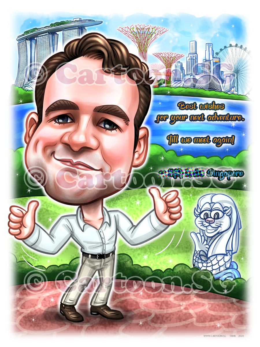 20200722-Caricature-Singapore-digital-farewell-gift