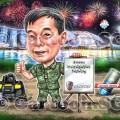 firework uniform army  stadium cartoon sketch