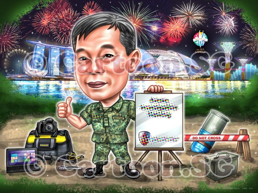 firework uniform army  stadium cartoon sketch
