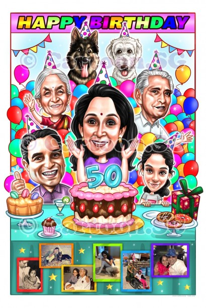20200925-Caricature-Singapore-digital-group-happy-birthday-dogs-party-family-Recovered