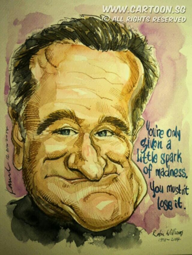 نتیجه تصویری برای ?caricature Robin Williams?